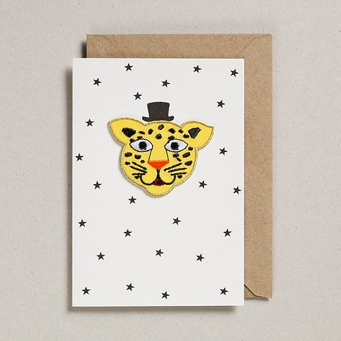 Petra Boase Iron on Leopard Card