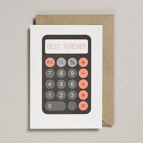 Best Teacher Calculator Card