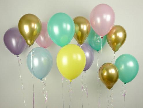 Pastel Chrome Balloon Mix