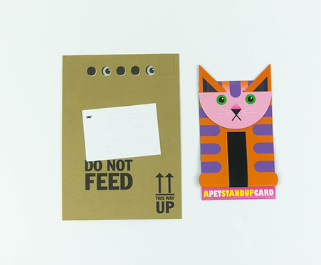 Ollie the Cat Stand Up Card