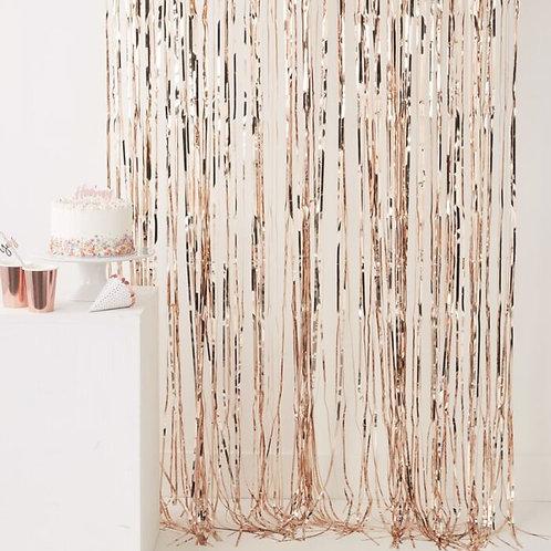 Rose Gold Fringe Curtain