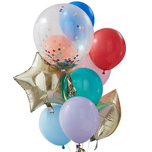 Rainbow Party Mixed Balloon Bundle