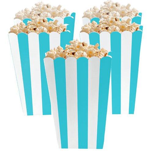 Turquoise Stripe Popcorn Boxes