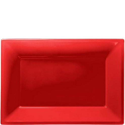 Red Serving Platter