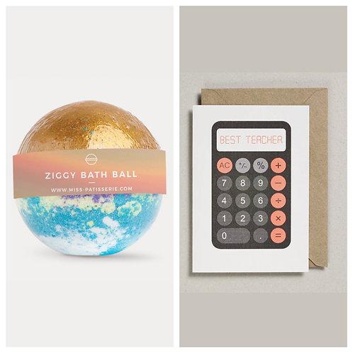 Ziggy Bath Ball and Best Teacher Card