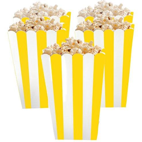 Yellow Stripe Popcorn Boxes