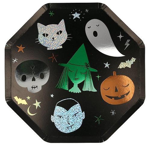 Halloween Motif Dinner Plate