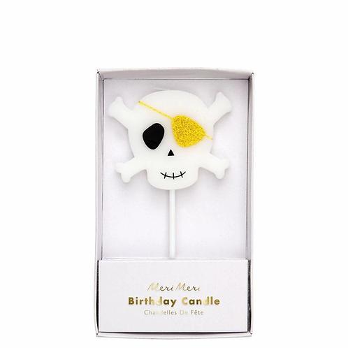 Meri Meri Skull and Crossbones Candle