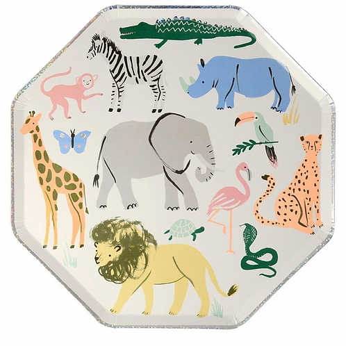 Meri Meri Safari Animals Dinner Plates