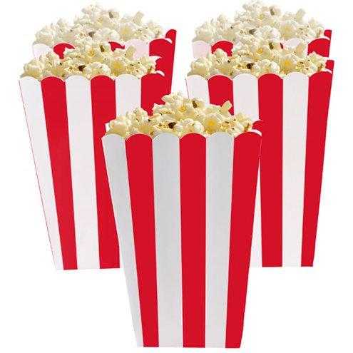 Red Stripe Popcorn Boxes