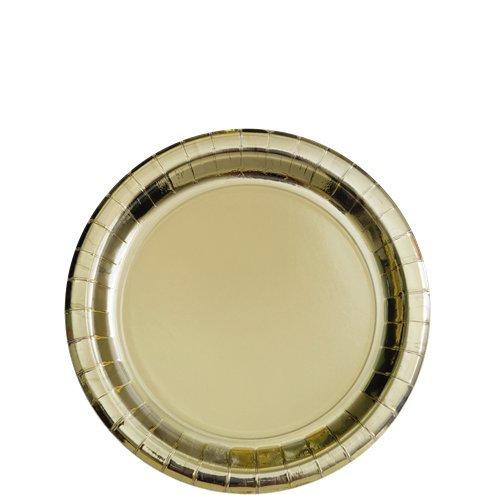 Metallic Gold Dessert Plate