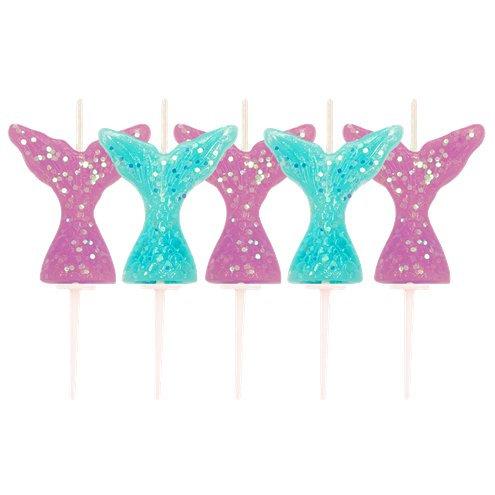 Glitter Mermaid Tail Candles
