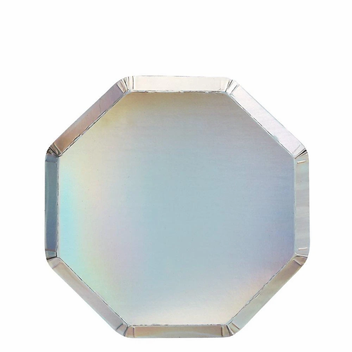 Meri Meri Silver Holographic Plates