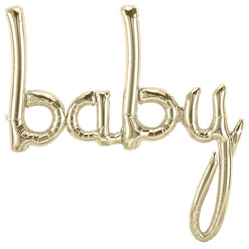 White Gold Baby Balloon