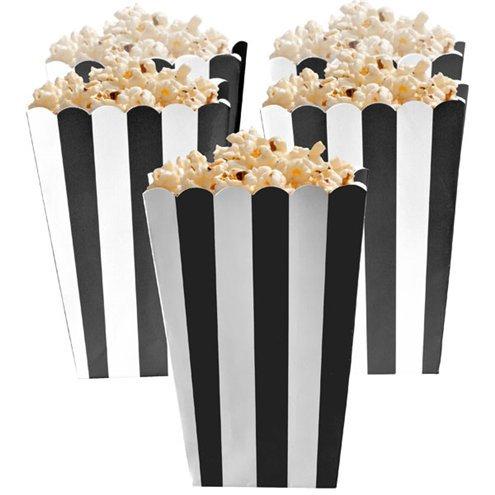Black Stripe Popcorn Boxes