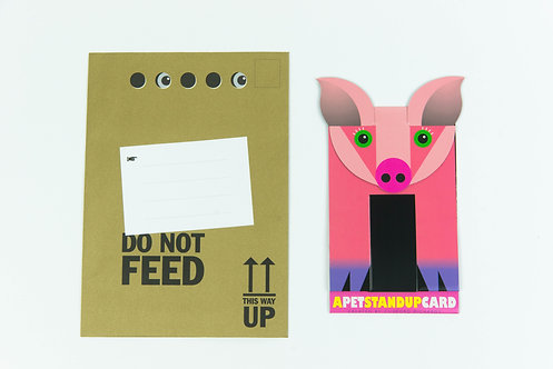 Mo the Pig Stand Up Card