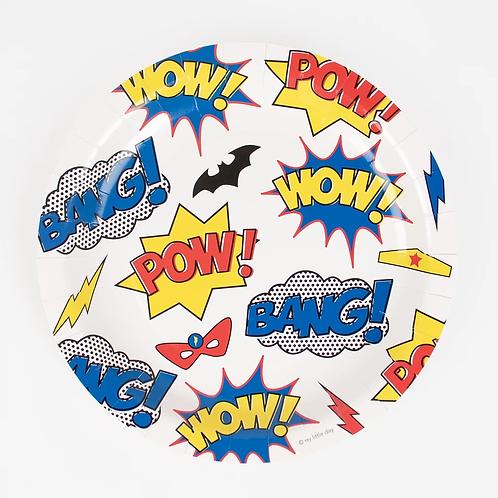 My Little Day Superhero Plates