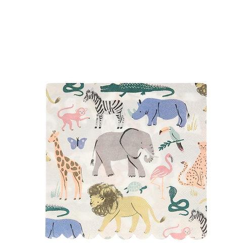 Safari Animals Large Napkins