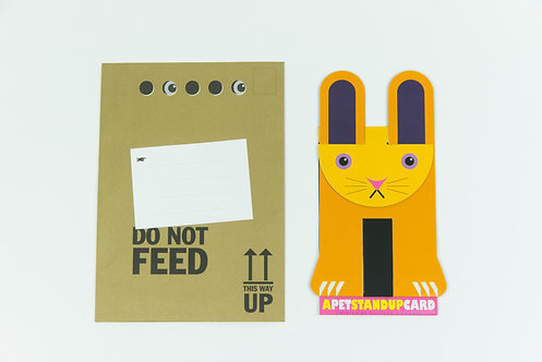 Flop the Bunny Stand Up Card