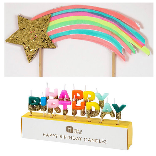 Candle and Cake Topper Bundle