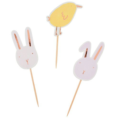 Easter Chick and Bunny Food Picks