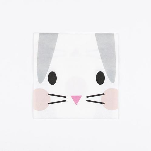 I Heart Bunny Napkins