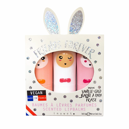 Inuwet Lip Balm Trio - Glitter Dots