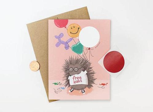 Porcupine Scratch Off Card