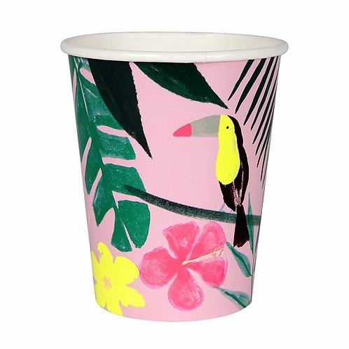Meri Meri Pink Tropical Cups