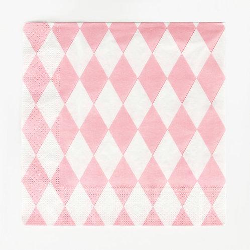 Pale Pink Harlequin Napkin