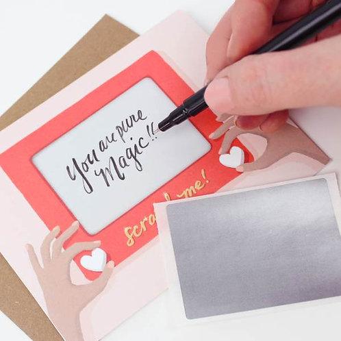 Etch a Sketch Scratch Off Card