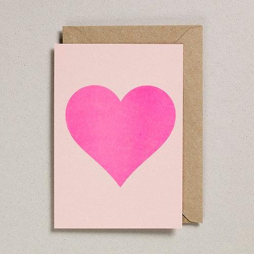 Petra Boase Simple Pink Heart Card