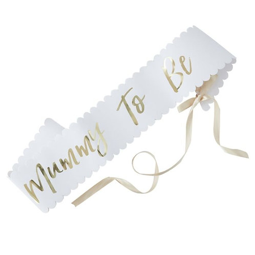 Mummy to be Gold Foil Sash