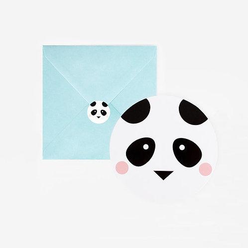 Panda Party invitations
