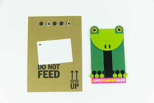 Ed the Frog Stand Up Card