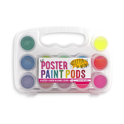Lil Poster Paint Pods - Glitter and Neon