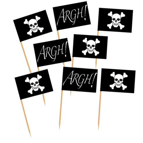 Pirate Paper Flag Food Picks
