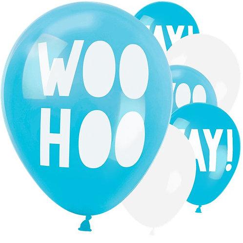 Shimmering Woo Hoo YAY Balloons
