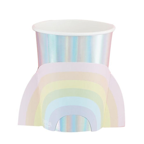 Ginger Ray Iridescent Rainbow Cups