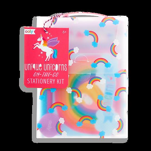 Ooly On-the-go Stationery Kit - unique unicorns