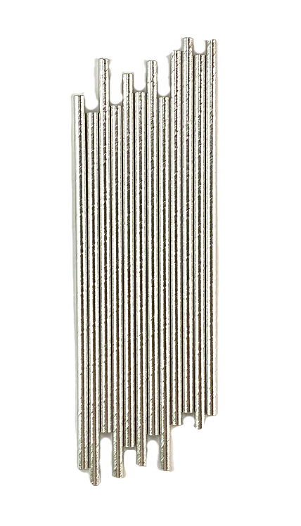 Solid Silver Paper Straws