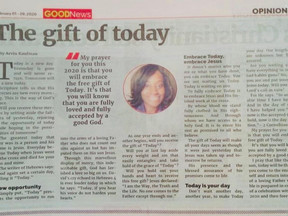 """The Gift of """"Today""""."""