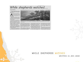 While Shepherds Watched.