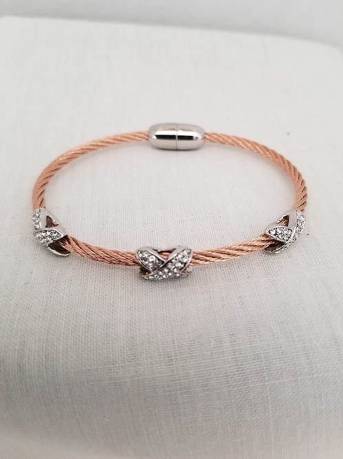Rose Gold Plated Cable Bracelet