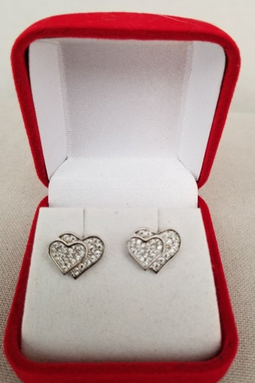 Cubic Zirconia Double Heart