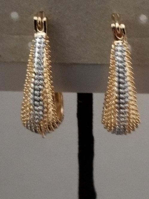 Gold Filled and Silver Earring
