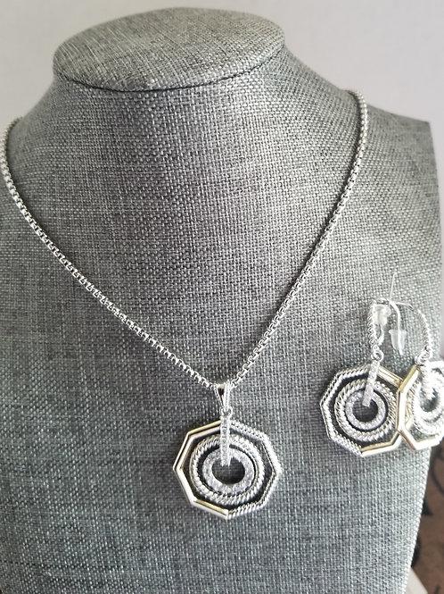 Hexagonal Necklace Set