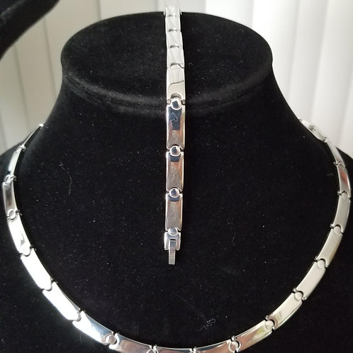 Stainless Steel Necklace and Bracelet Set