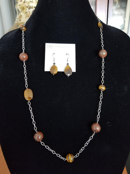Necklace and Earring Tiger's Eye