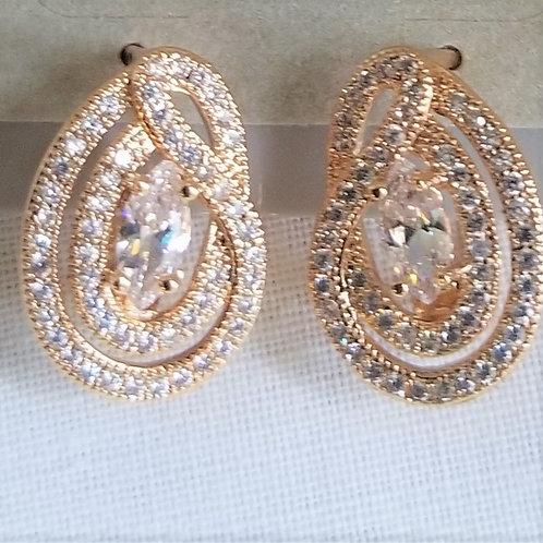 Cubic Zirconia & Gold Filled Earrings